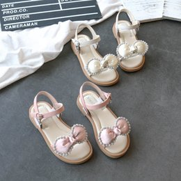 designer bow flats Australia - Fashion girls sandals crystal bows girls shoes 2020 new Summer kids shoes princess kids sandals kids designer shoes girls high quality B724