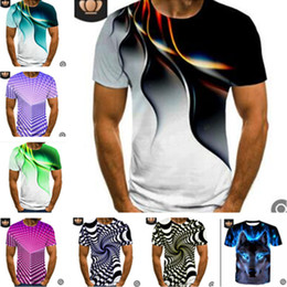 Wholesale 3d printed sweat shirt for sale – custom M XL D Design Print Men s T shirt Summer Short Sleeve Tee Sweat Shirt Sports Joggers Casual Tshirts Quick Dry Trend Tops Colors LY617