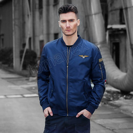 $enCountryForm.capitalKeyWord Australia - 2019 New Winter Air Force One MA01 Bomber jacket Men Fahion Stand Collar Warm Pilot Jackets Hip Hop Baseball Uniform Parka Coats