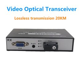 Vga Fiber Australia - Single VGA video fiber extender, VGA+ audio video optical transceiver video signal extended 20KM