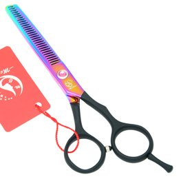 Top Barber Shears Australia - Meisha 5.5 Inch Top Quality Barber Scissors Professional Salon Hair Thinning Shears Hairdressing Cutting Razors with One-Tailed HA0172