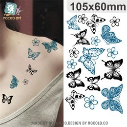 Butterfly Stickers For Papers Australia - Body Art waterproof temporary tattoos paper for lady women sexy 3d butterfly design flash tattoo sticker HC-003