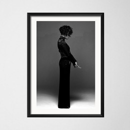 black white canvas wall prints NZ - Poster And Prints Whitney Houston Star Singer Woman Black White Canvas Painting Art Wall Pictures For Living Room Home Decor