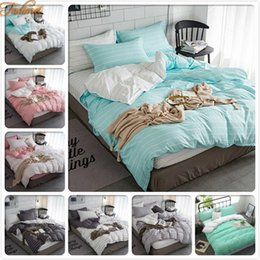 beds single size Australia - Concise 3 4pcs Bedding Set Single Twin Queen King Size Duvet Cover Adult Kids Soft Cotton Bed Linen Bedspreads Quilt Pillow Case