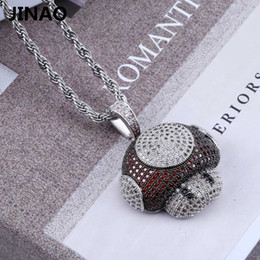 Necklaces Pendants Australia - Jinao New Fashion Iced Out Mushroom Necklace & Pendant Copper Bicolor Cubic Zircon Necklace Hip Hop Men's Jewelry Gifts Y19050802