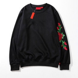 Floral pullover hoodie online shopping - 19ss hot mens hoodie designer fashion mens hoodies luxury embroidery wild men boxlogo street men hooded sweater hip hop mens women pullover