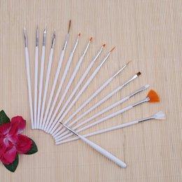 Professional Painting Brushes NZ - Tools Brushes 15 pcs Art Decorations Brush Set Tools Professional Painting Pen for False Nail Tips UV Nail Gel Polish