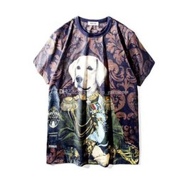 4547eab3726f New Mens Designer T Shirts Hip Hop Designer Shirt 3D Cartoon Dog Womens  Short Sleeve S-XXL