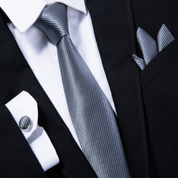 4c13391da01e Cufflinks Tie Clip Canada - Black Paisley Mens Ties Silk Tie Clips Hanky Cufflinks  Set Jacquard