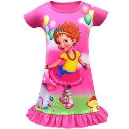 Chinese  Girls Fancy Nancy Dress 2019 Kids Summer Dresses For Girls Girl Casual Dress Girl Cartoon Dress For 100-140cm manufacturers
