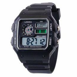 $enCountryForm.capitalKeyWord Australia - Men Watch Multifunctional Sports And Leisure Square Fashion Wild Electronic Wristwatch Mens Style Waterproof Watch
