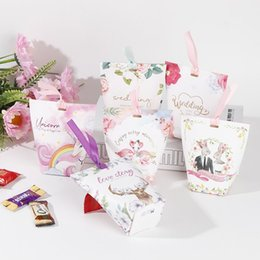 Party Present Box Australia - Wedding Guest Bags Sweet Candy Favor Boxes Marriage Party Good Wedding Presents Card Boxes for Friends