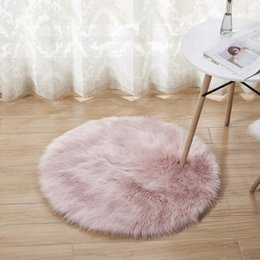 $enCountryForm.capitalKeyWord Australia - 15 Colors Sheepskin Wool Carpet Chair Cover Bedroom Faux Mat Seat Pad Plain Skin Fur Plain Fluffy Area Rugs Washable
