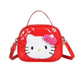 8f001423f Cute Fashion Girls Shoulder Bags Trendy Hello Kitty Messenger Bags Wild  Chic Crossbody Packs Soft PU Leather Multi Colors Shoulder Packages