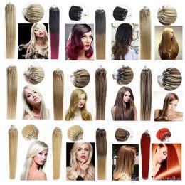99j Hair Extensions 24 Australia - 7A Micro Loop Hair Extension 0.5g strand 200s Brazilian Straight Hair Remy Human Hair 16-24 inch #1 1B# 2# 4# 6# 8# 27# 99J# 613# 60# pink#