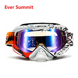 Discount motorcycle helmet pink visor - VEMAR Motocross Goggles Motorcycle Glasses PU Windproof Skiing Moto Bike Goggles Glass Dirt Bike Helmet Visors Eyewear K