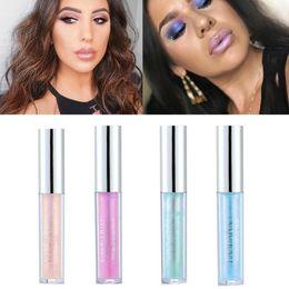 Discount nude lips - HANDAIYAN Liquid Crystal Glow Lip Gloss Laser Holographic Lip Tattoo Lipstick Makeup Jelly Pigment Glitter Gloss