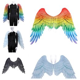 $enCountryForm.capitalKeyWord Australia - new Mardi Gras Big Eagle Wings Costume Non Woven Fabrics angel Wing Adult Carnival Fancy Costume party Supplies T2I5328