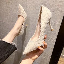 $enCountryForm.capitalKeyWord Australia - French high heel female pointed fine with 2019 autumn and winter new wild girl small fresh net red single shoes female