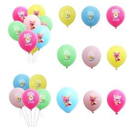$enCountryForm.capitalKeyWord Australia - 12inches baby shark cartoon Balloons latex Air round Ballons Wedding Baby Birthday Ballon Party home outdoor decor props supplies Balloo4946