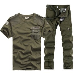 Camping Suit Australia - US Army Tracksuits Sports sets Men Military Training Camping Hiking Outdoor Running suits Serve Army Fans Uniform