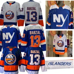 cf0718504 Mathew Barzal Jersey 2019 New All Stitched New York Islanders Jerseys Home  Away Men size S-3XL