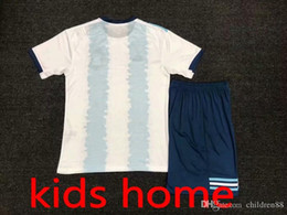 argentina l short NZ - kids 19 20 football kits Soccer Jersey messi aguero di maria dybala 2019 football shirts Argentina home Childrens soccer uniforms