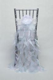 Champagne Chair Australia - 2019 Organza Taffeta Cheap Wedding Chair Sashes Romantic Beautiful Chair Covers Cheap Custom Made Wedding Supplies C02