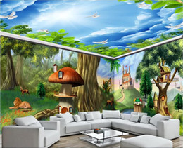 Painting Rooms House Australia - 3d room wallpaper custom photo mural Fantasy fairytale forest animal castle full house background wall painting wallpaper for walls 3 d