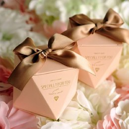 $enCountryForm.capitalKeyWord Australia - New Pink red bule Diamond Shape Baby Shower Candy Box Wedding Favors And Gifts Boxes Birthday Party Decoration For Guests J190722