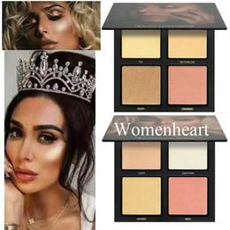 En stock Maquillaje de alta calidad Delicado estereoscópico Sense 4color Bronceadores Resaltadores de contorno Aparecen epacket en venta