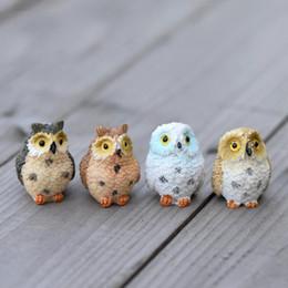$enCountryForm.capitalKeyWord Australia - Terrarium Decor 2 PCS Cute Owls Animal Resin Miniatures Figurine Craft Bonsai Pots Home Fairy Garden Ornament Decoration