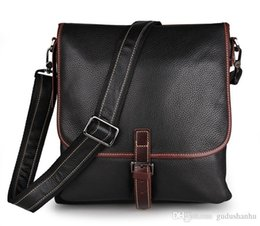 jmd leather bags Australia - JMD Vintage Style Men's Messenger Bag Tanned Leather Sling Bag For Man 7312 Two Color