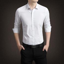Mens Slim Fit Formal Shirts Australia - Men Shirt Long Sleeve Slim Fit Solid Mens Dress Shirts Formal Shirts Designs Camisa Social Masculina Men Business Shirt