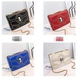 $enCountryForm.capitalKeyWord Australia - Girls Purse Rhombus Lady Square Chains Bag Golden Fashion Handbag Beads Design Embroidery Thread New Arrival Woman 29yg O1