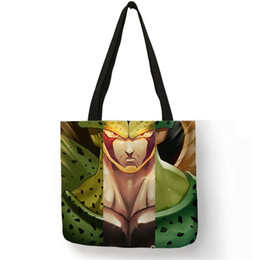 office tote bags for women 2019 - Cartoon Character Schultertasche Sac A Main Femme Handbag Linen Large Capacity Shoulder Bag Office Bag For Men Women che