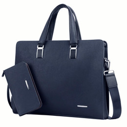 handbag for ipad laptop Canada - Men Handbags Briefcases Computer Laptop Bag Male Computer Shoulder Bags Waterproof Office Portable Bag for Dell Acer Macbook Huawei new