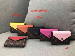 Wholesale L ouis v uitton Top Quality pu print wallet Men Famous Brand Handbags Luxury clutch bag Tote Purse Designer women fashion Envelope Bags3A066