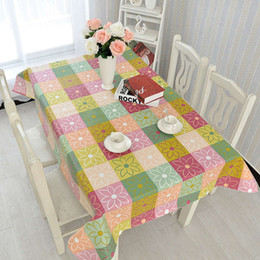 table cloth sizing 2019 - 1PCS S M Size Table Cloth PVC Waterproof Oilproof Plaid Tablecloth No Wash Table Mat cheap table cloth sizing