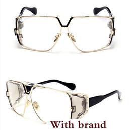 Sun Design Shade Glasses Australia - Fashion Oversized Shades Sunglasses Vintage Large Frame Plank Lightweight Sunglass Men Women Retro Luxury Design Adumbral Sun Glass