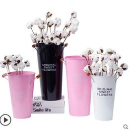 Tin car ornamenT online shopping - Nordic home decoration flower bucket living room restaurant creative small ornaments flower shop tin flower pot