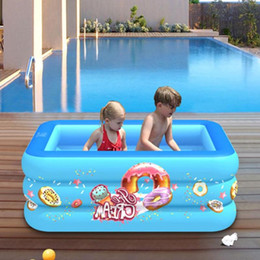 inflatable water toys for kids NZ - 130CM Square Inflatable Swimming Pool Thicken PVC Paddling Ocean Ball Pool Bath Tub Outdoor Summer Water Toys For Kids