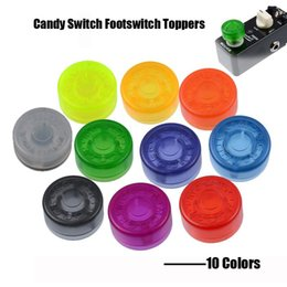 wholesale guitar effects pedals UK - 100pcs Mooer Candy Footswitch Topper Colorful Plastic Bumpers Footswitch Protector For Guitar Effect Pedal