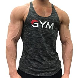 sleeveless shirts mens xl 2019 - Mens Bodybuilding Tank Tops Gyms Fitness Workout Quick dry Sleeveless T-Shirt Sling Vest Male Casual Brand Undershirt Cl
