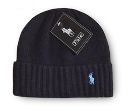 WindoW toppings online shopping - Embroidery Designers Skull Caps Equestrian Woolen Knitted hat Fashion Men Women Portable Spring Autumn Beanie Window Shopping polo glof Ccww