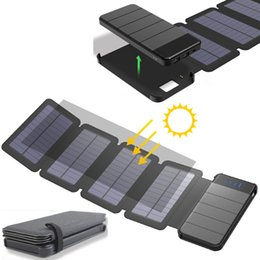 sunpower cells Australia - Solar panel 8W sunpower battery with power bank 10000mAh universal Portable Phone Charger can remove External Battery