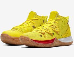 2019 Sponge Bob x Kyrie 5 Chaussures de basketball pour hommes de Squidward Pink Lotus Pink pour hommes Irving 5 Sport CJ6951-700 Designer Sneakers en Solde