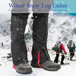 boot leg gaiters UK - Unisex Waterproof Cycling Legwarmers Leg Cover Camping Hiking Ski Boot Travel Shoe Snow Hunting Climbing Gaiters Windproof