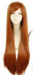Wholesale Wolf Holo Raphtalia Cosplay Wig Orange Long Straight Hair Women Anime