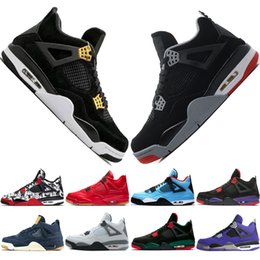 1951147a78ab 4 Tattoo Singles Day Travis Scotts Cactus Jack Raptors Mens Basketball  Shoes 4s White Cement Hot Punc men sports sneakers designer trainers